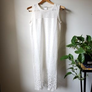 NWT ELSEY WHITE LACE SHIFT DRESS